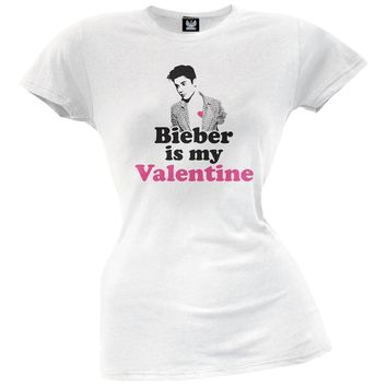 Bieber is My Valentine Juniors T-Shirt