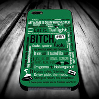 Supernatural - Dean Winchester Quotes for iPhone 4/4s/5/5s/5c/6/6 Plus Case, Samsung Galaxy S3/S4/S5/Note 3/4 Case, iPod 4/5 Case, HtC One M7 M8 and Nexus Case ***