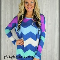 Turquoise love tunic top: Filly Flair