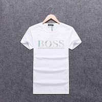 Trendsetter HUGO BOSS Women Man Fashion Print Sport Shirt Top Tee