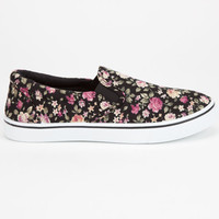 Carrini Ca Collection Womens Slip-On Shoes Black Flower  In Sizes
