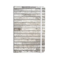 "Susan Sanders ""Wooden Walk"" White Gray Everything Notebook"