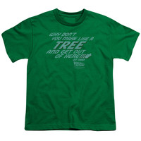 BACK TO THE FUTURE/MAKE LIKE A TREE - S/S YOUTH 18/1 - KELLY GREEN - XL - KELLY GREEN -