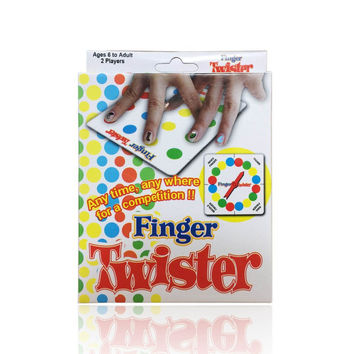 English finger twister children games the toys finger dance family fun board game