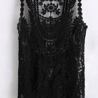 lace top vest tee t-shirt from mancphoebe