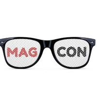 Magcon Event Glasses with Mag Con Logo. (Black Frame)
