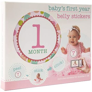 First Year Baby Belly Stickers - Pink