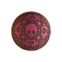 """""""Skull"""" Tattoo Patterned Ball Ornament (More Colors Available)"""