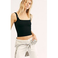 Free People Square Off Cami - Black (Size XS left!)