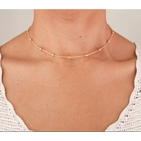 Dainty Satellite Chain Choker