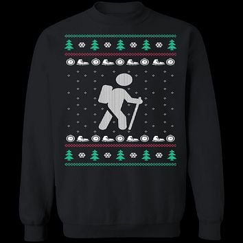 Hiking Ugly Christmas Sweater