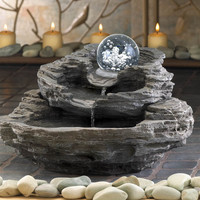 Water Fountain - Rock Design Desk