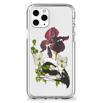 Bird Skull and Flowers iPhone Case
