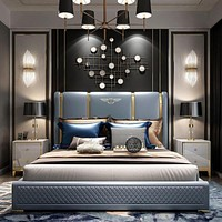Light Luxury Simple Leather Bed