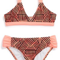 Girl's Hurley Two-Piece Swimsuit,