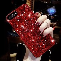 Luxury Full Crystal Diamond Back Phone Case Cover for iPhone X 8 7 6 6s Plus