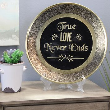 Natural Geo True Love Never Ends Decorative Wall Hanging Brass Accent Plate