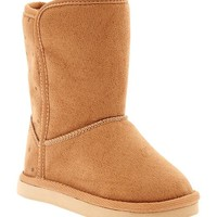 Old Navy Printed Faux Suede Boots For Baby