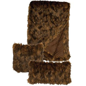 "Grizzly Faux Fur Throw (54"" x 72"")"