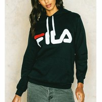 FILA Print Hooded Hoodies pullover Sweater H-A-GDPPZX