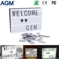 DIY Cinematic Battery USB Powered Light Box A4 A5 Size With Letters Numbers Acrylic LED Lamp Festival Lightbox Desk Night Light