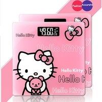 Square Hello Kitty Balance Digital Scale Smart Electronic Scale Floor Scale Weight Bathroom Body Scale Household Accessories