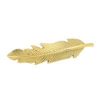 Golden Leaf Barrette Clip