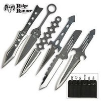 6 Piece Ridge Runner Lightning Throwing Knives