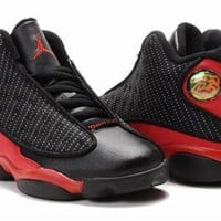 New Nike Air Jordan 13 Kids Shoes Black Red White