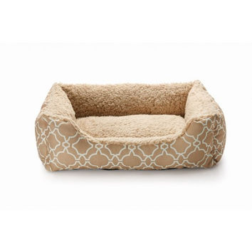 """Pet Bed - 21"""" x 16"""" - Natalie - Taupe"""
