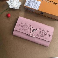 LV Louis Vuitton WOMEN'S LEATHER Capucines Sweet Brogues WALLET