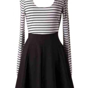 Striped Longsleeve Dress