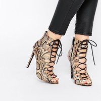 ASOS ELLERY MAE Lace Up Ankle Boots