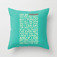 Friends Throw Pillow by Fimbis   Society6