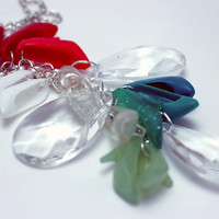 Holly Ombre Christmas Berry Green Barbie Shoe Necklace Holiday Gift