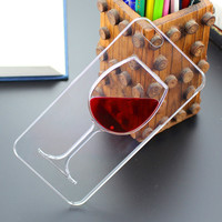Apple iPhone Red Wine Transparent Phone Case