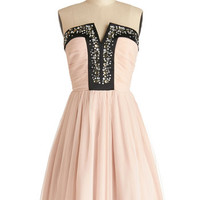 ModCloth Pastel Long Strapless A-line Luxe Redux Dress