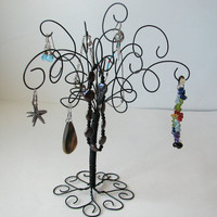 Jewelry Holder Earring Organizer Jewelry Wire Jewelry Organizer, Tree Stand , Earring, Rings,Bracelets, Organizer, Display