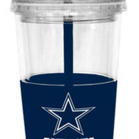 NFL Dallas Cowboys Lidded Cold Cup with Straw