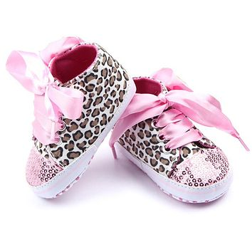 Cute Lovely Baby Girls Shoes Cotton Floral Leopard Baby Clothing
