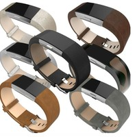 For Fit bit charge 2 bands leather,Accessory Leather Bands strap for Fit bit Charge 2.Fits 5.9-8.1 inch Wrist 7 colors. charge2