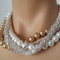 Pearl Wedding Necklace Jewelry Accessory with Multi Color and strands Aegean Lights