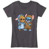 Groot And Stitch Forever T Shirt