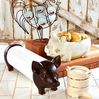 Farmhouse Style Kitchen Accessories Ceramic Wood & Metal Country Farm Animals