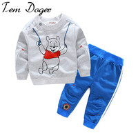 Baby boy girl clothes Long sleeve Top + pants 2pcs sport suit baby clothing set newborn infant clothing bebe