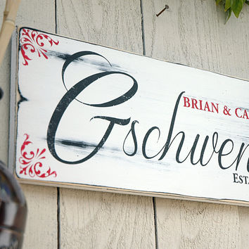 Rustic Family Wedding Sign, Established Sign, Rustic Wood Sign