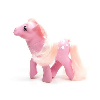 Lickety Split My Little Pony Vintage G1 Pink Mane, Tail & Body with Ice Cream Cones Symbol