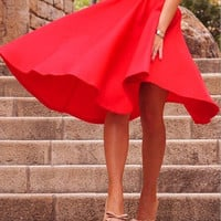 Fashion Solid color skirts
