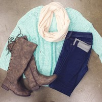 Mint To Be Sweater $35.00