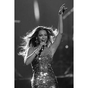 "Beyonce Poster Black and White Poster 16""x24"""